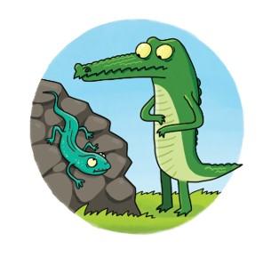 Крокодил и ящерица.