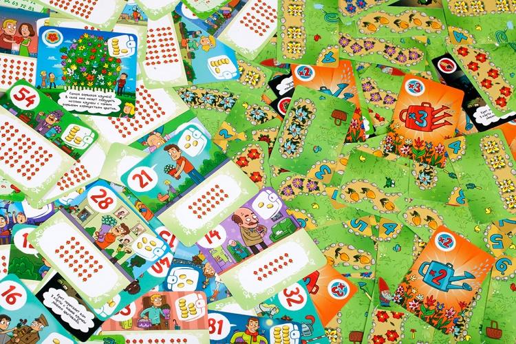 Яркие карты игры Цветариум
