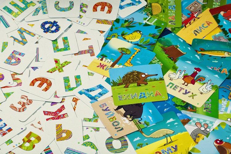 Яркие карточки игры Зверобуквы